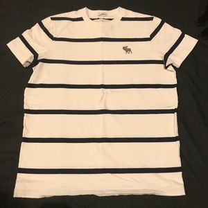 Men's Large Striped Abercrombie & Fitch Tee
